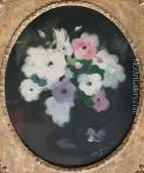 A Still Life Of Assorted Roses Oil Painting - James Stuart Park