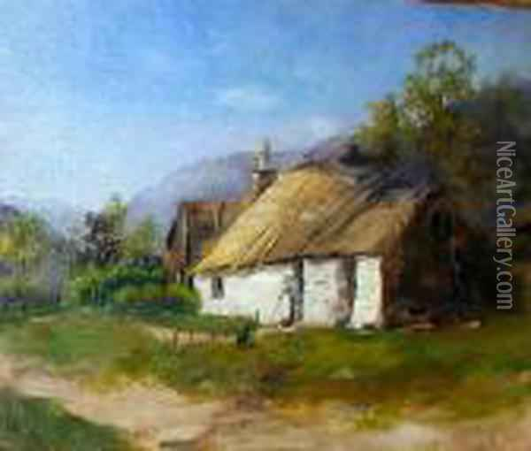 An Ayrshire Cottage Oil Painting - James Stuart Park