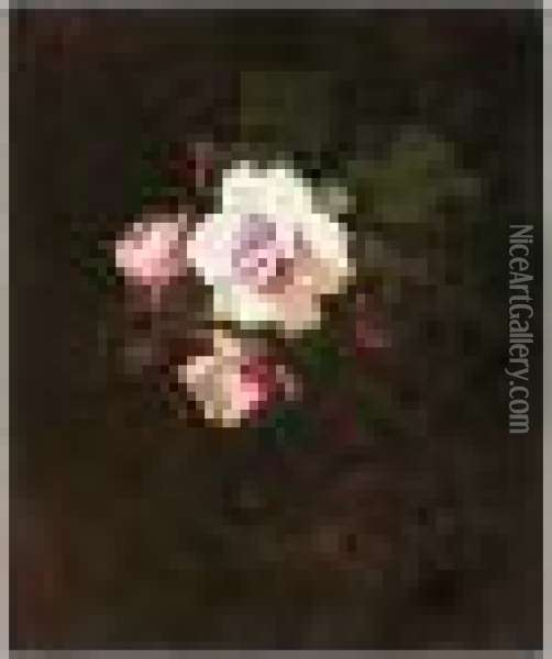 Pink Roses Oil Painting - James Stuart Park