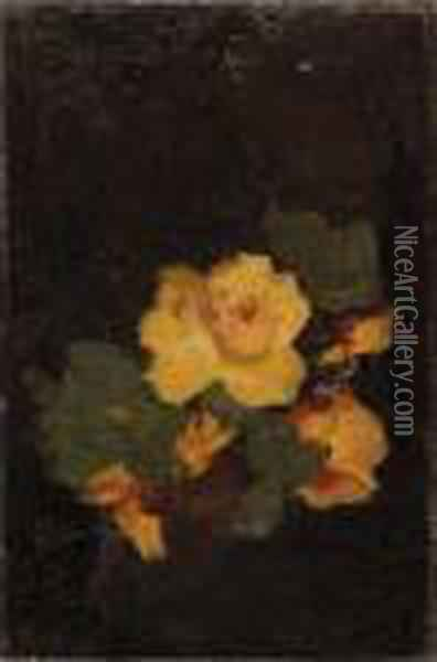 Yellow Roses Oil Painting - James Stuart Park