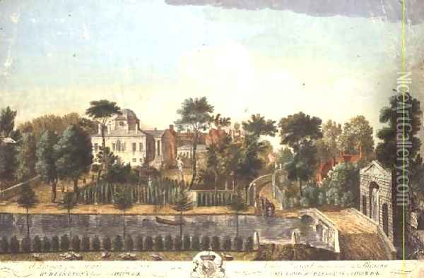 Chiswick House and Garden, 1748 Oil Painting - Pieter Andreas Rysbrack