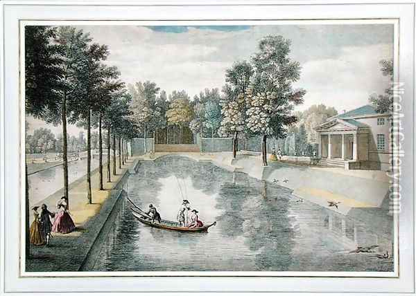 The Water Gardens at Chiswick House, London, c.1728-30 Oil Painting - Pieter Andreas Rysbrack