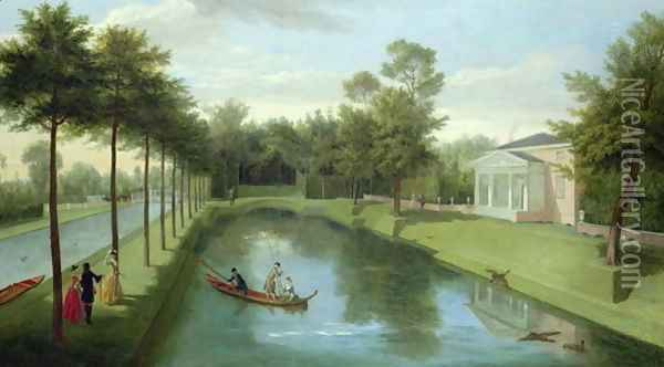 The Water Gardens of Chiswick House Oil Painting - Pieter Andreas Rysbrack
