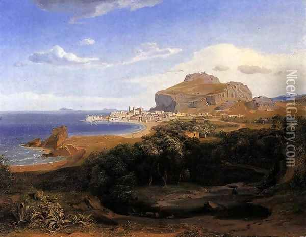 Cefalu 1830 Oil Painting - Carl Rottmann