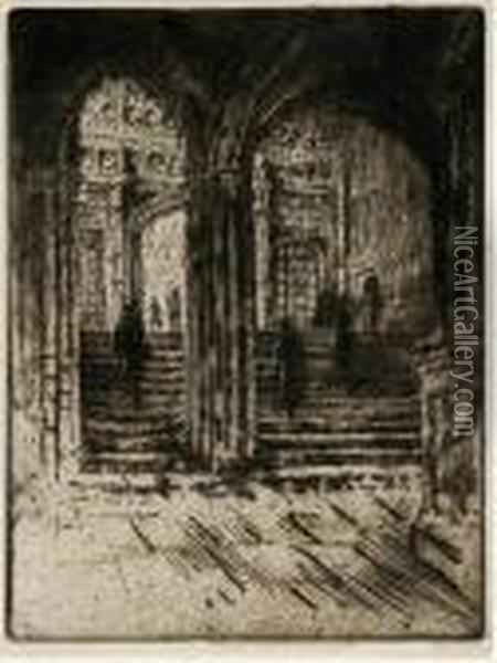 Entrance To Henry Vii's Chapel, Westminster Oil Painting - Joseph Pennell