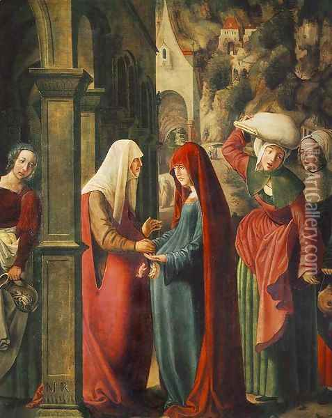 Meeting of Mary and Elisabeth Oil Painting - Marx Reichlich