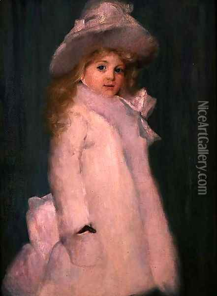 Portrait of Lily, 1892 Oil Painting - Thomas William Roberts