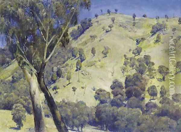 Dandenongs Landscape Oil Painting - Thomas William Roberts
