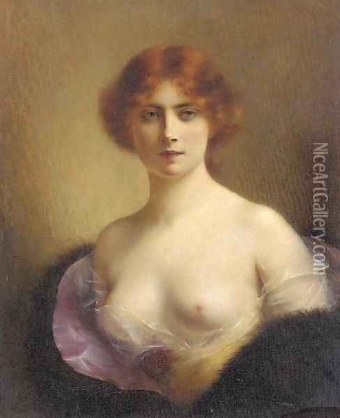A young beauty 3 Oil Painting - H. Rondel