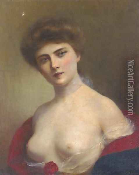 A young beauty 2 Oil Painting - H. Rondel