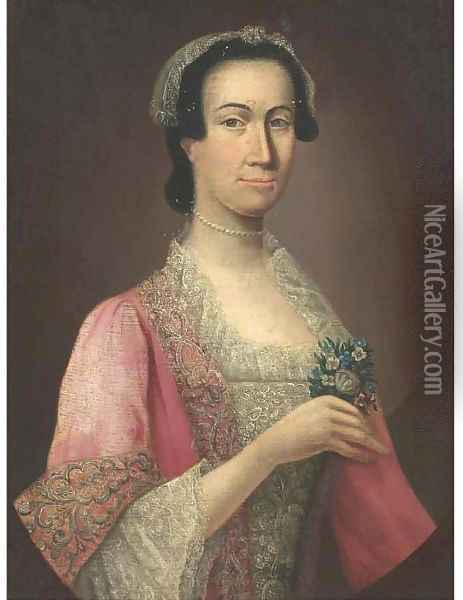Portrait of a lady 3 Oil Painting - Allan Ramsay