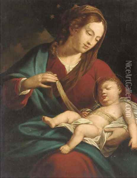 The Madonna and Child Oil Painting - Sebastiano Ricci