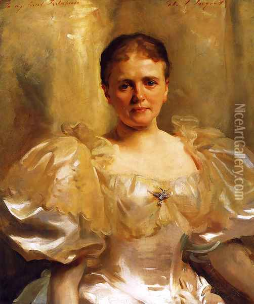 Mrs. William Shakespeare (Louise Weiland) Oil Painting - John Singer Sargent