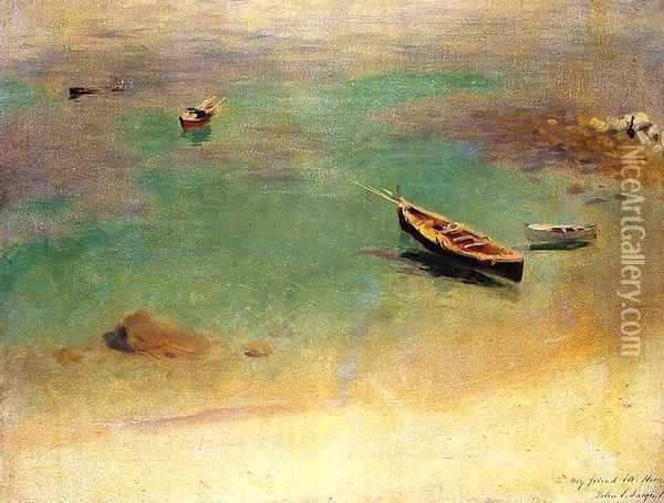 A Boat in the Waters off Capri Oil Painting - John Singer Sargent