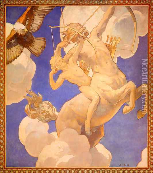 Chiron And Achilles Oil Painting - John Singer Sargent