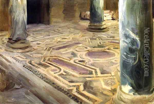 A Mosque, Cairo Oil Painting - John Singer Sargent