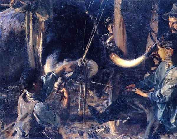 Shoeing the Ox Oil Painting - John Singer Sargent
