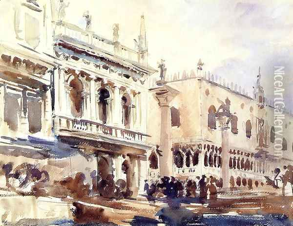 The Piazzetta and the Doge's Palace Oil Painting - John Singer Sargent