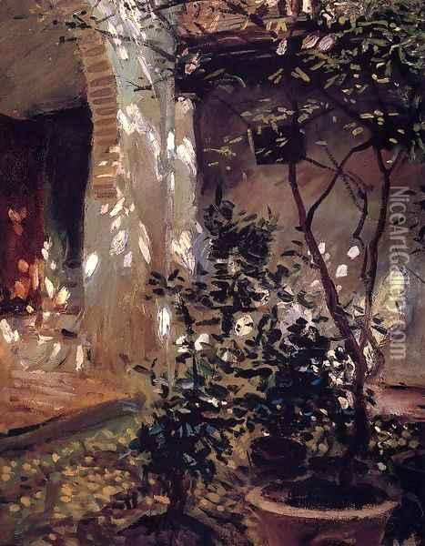 Granada, Sunspots Oil Painting - John Singer Sargent