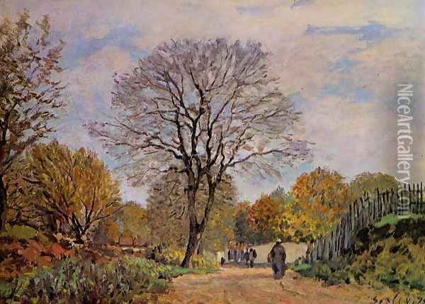 A Road in Seine-et-Marne, 1878 Oil Painting - Alfred Sisley