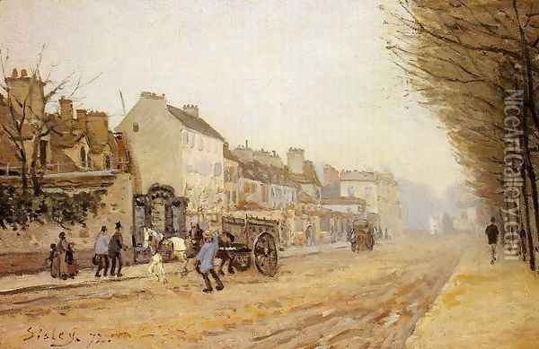 Boulevard Heloise Argenteuil Oil Painting - Alfred Sisley