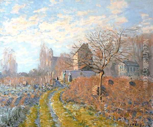 Hoar Frost -St. Martin's Summer (Indian Summer) Oil Painting - Alfred Sisley