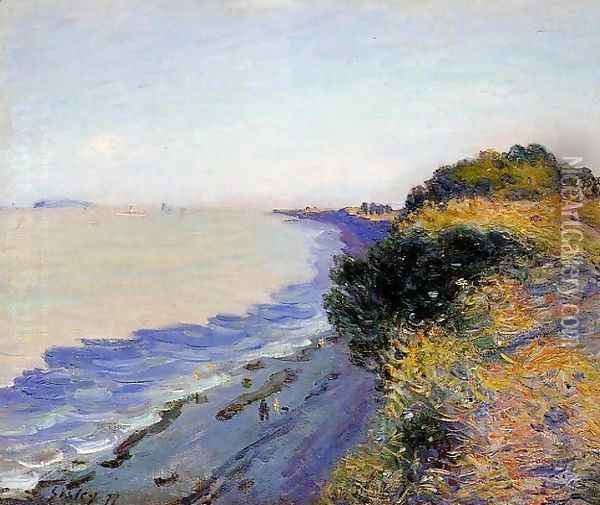 Bristol Channel From Penarth Evening Oil Painting - Alfred Sisley