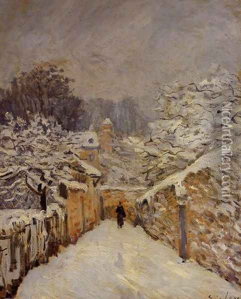 Snow at Louveciennes, 1878 Oil Painting - Alfred Sisley