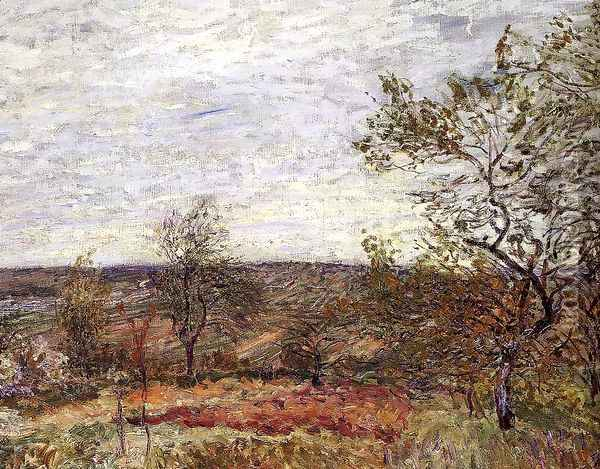 Windy Day at Veneux, 1882 Oil Painting - Alfred Sisley