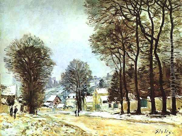 Snow at Louveciennes 1874 Oil Painting - Alfred Sisley