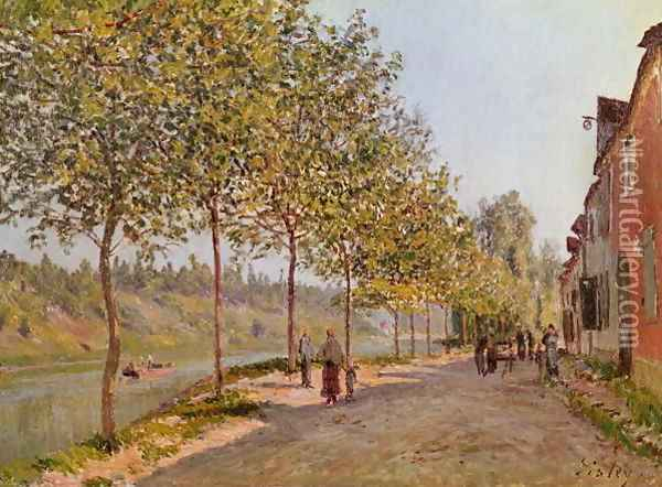 June Morning in Saint-Mammes, 1884 Oil Painting - Alfred Sisley