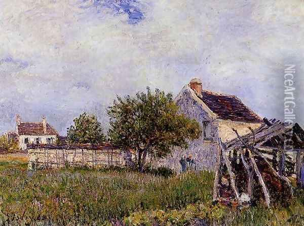 An Old Cottage at Sablons Oil Painting - Alfred Sisley
