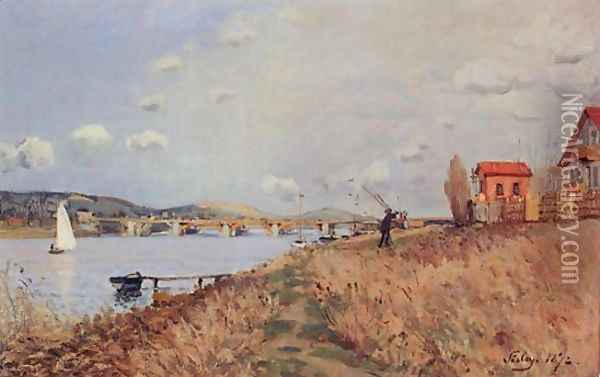 The Bridge at Argenteuil Oil Painting - Alfred Sisley