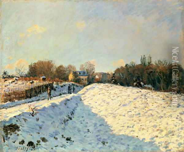 Effect of Snow at Argenteuil, 1874 Oil Painting - Alfred Sisley