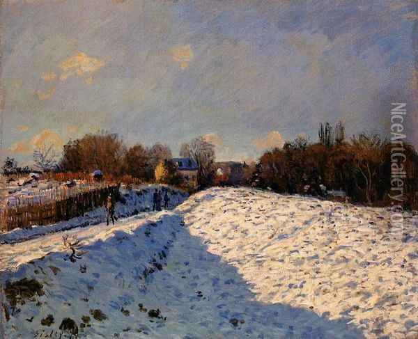 The Effect of Snow at Argenteuil Oil Painting - Alfred Sisley