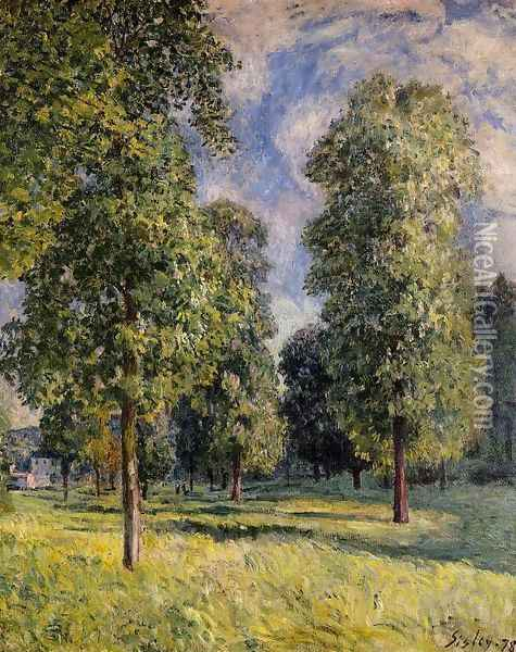 Landscape at Sevres, 1878 Oil Painting - Alfred Sisley