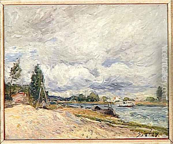 Banks of the Seine Oil Painting - Alfred Sisley