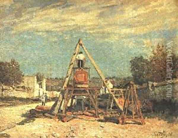 Pit Sawyers Oil Painting - Alfred Sisley