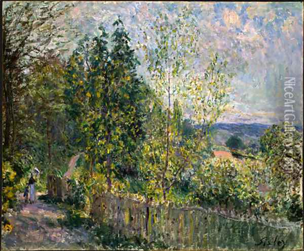 The Road in the Woods Oil Painting - Alfred Sisley