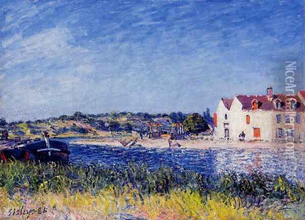 Confluence of the Seine and the Loing Oil Painting - Alfred Sisley