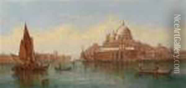 View Of The Basilica Of St. Mary Of Health Oil Painting - Alfred Pollentine