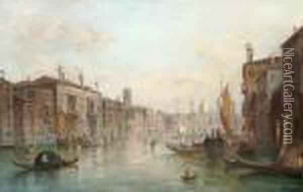 Ansicht Des Canale Grande Oil Painting - Alfred Pollentine