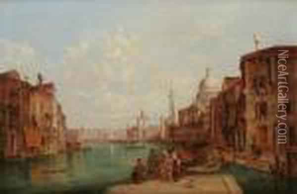 Canaux Avenise Oil Painting - Alfred Pollentine
