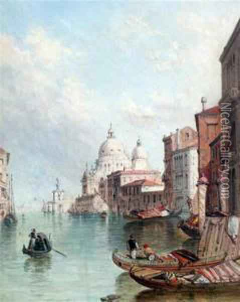 View Of Venice Oil Painting - Alfred Pollentine