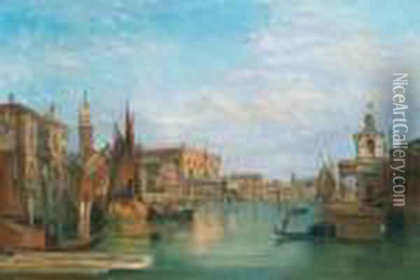 Scene From The Grand Canal In Venice Oil Painting - Alfred Pollentine