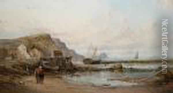 Coastal Views, A Pair Oil Painting - Alfred Pollentine
