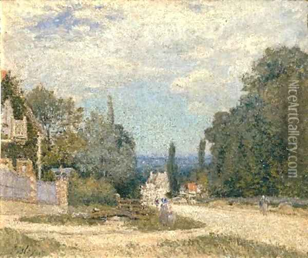 Route from Louveciennes Oil Painting - Alfred Sisley
