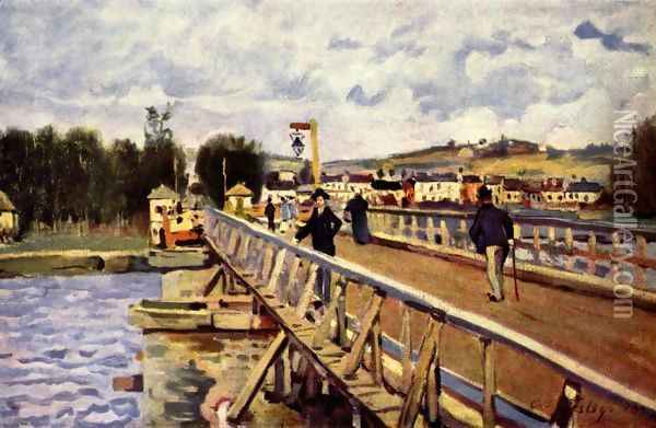 Passerelle d'Argenteuil Oil Painting - Alfred Sisley