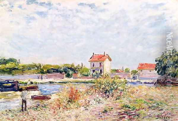 The Loing at Saint-Mammes, 1885 Oil Painting - Alfred Sisley