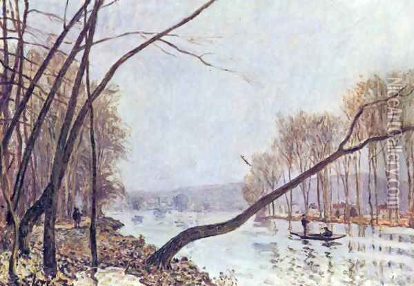 Bank of the Seine in the autumn Oil Painting - Alfred Sisley
